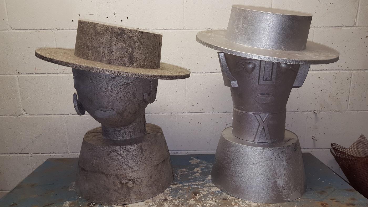 Esculturas de fundición de aluminio