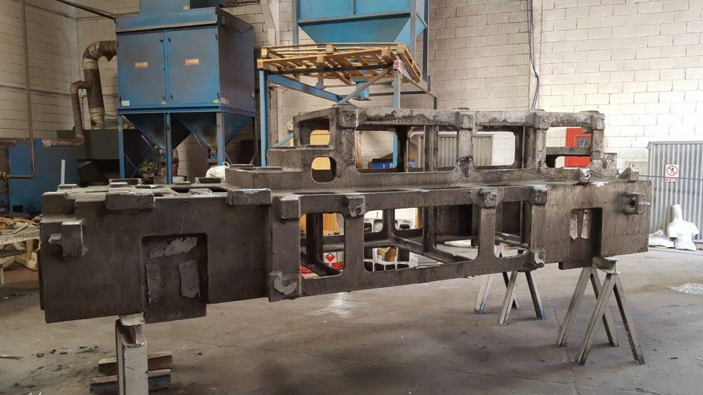 Estructura fundición de aluminio para prototipo