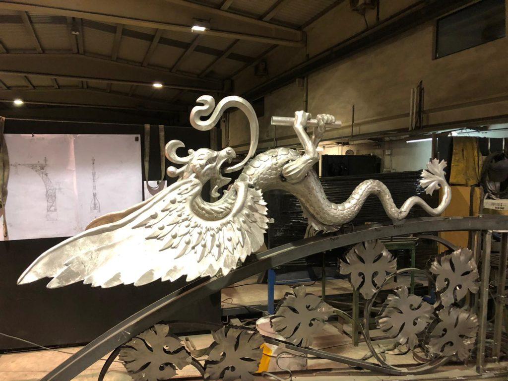 Luminaria dragón aluminio